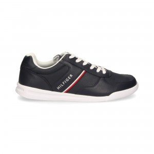 TOMMY HILFIGER BUTY LEATHER SNEAKER MIDNIGHT FM02556-CKI